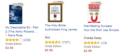"The ""Customers who bought this book"" recommendations can often be confusing.  These recommendations are for a search for The King James Bible"
