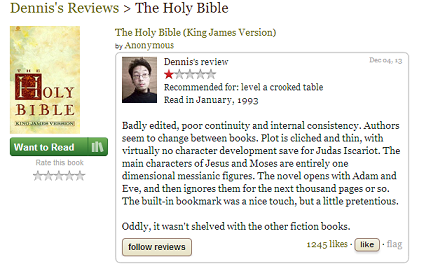 Every Book Gets Bad Reviews Sometimes