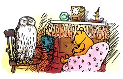 Pooh and owl