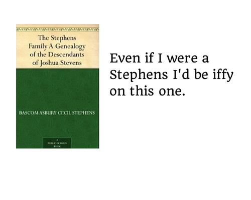 Still not a Stephens