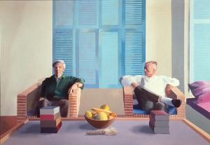 Isherwood and Bachardy by Hockney