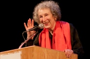 Margaret Atwood is the holder of numerous patents related to a remote robotic writing technology that she invented called the LongPen. Source: Mark Hill
