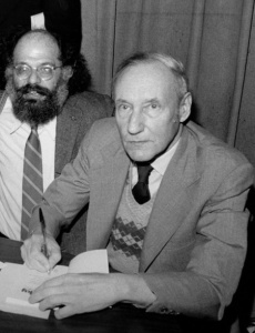 Allen Ginsberg and William S. Burroughs at the Gotham Book Mart celebrating the reissue of JUNKY, NYC, 1977. By Marcelo Noah via Wikimedia Commons