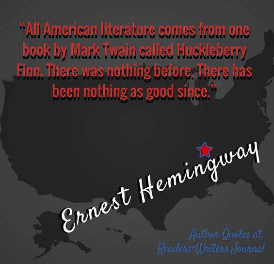 Author Quotes Ernest Hemingway on Mark Twain