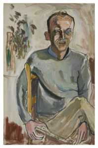 O'Hara painted by Alice Neel