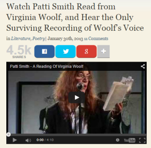 open culture patti smith virginia woolf