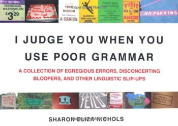 I judge you when you use poor grammar book