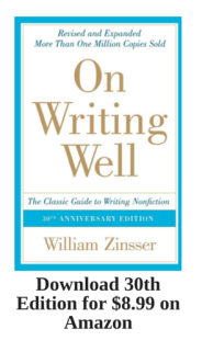 On Writing Well 30th Edition