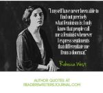 Author Rebecca West Quote About Feminism