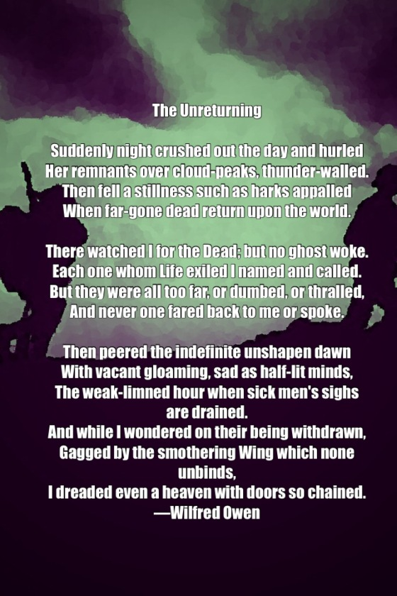 Poem The Unreturning Wilfred Owen