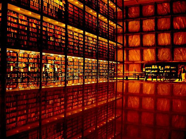 Yale Rare Books Bookshelf Porn
