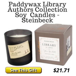 John Steinbeck Candle Gift for Readers
