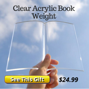 Clear Acrylic Book Weight Gift Idea