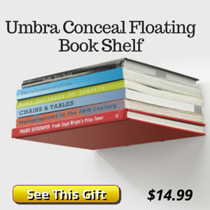 Umbra Floating Book Shelf Gift for Book Lovers