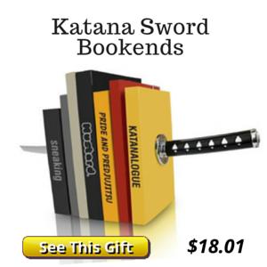 Optical Illusion Sword Book Ends