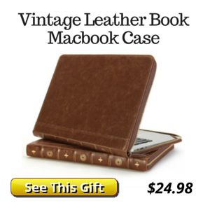 Vintage Leather Book Laptop Case