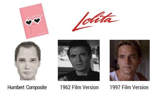 Humbert from Lolita 3 versions