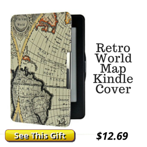 Kindle Cover Retro World Map