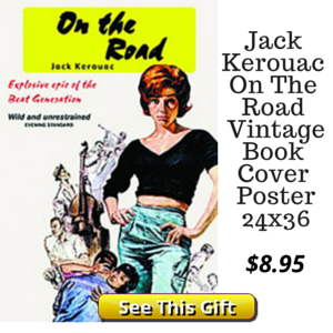 Vintage Jack Kerouac Book Cover Print