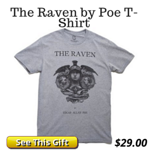 Poe The Raven Literary T-Shirt Gift