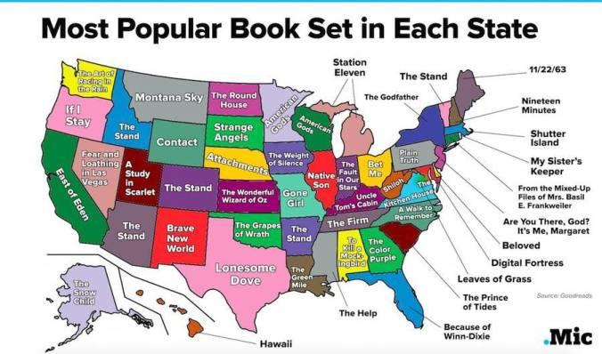 U.S. Book Map
