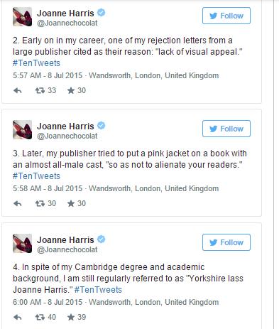 Joanne Harris tweets2