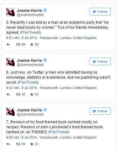 Joanne Harris tweets3