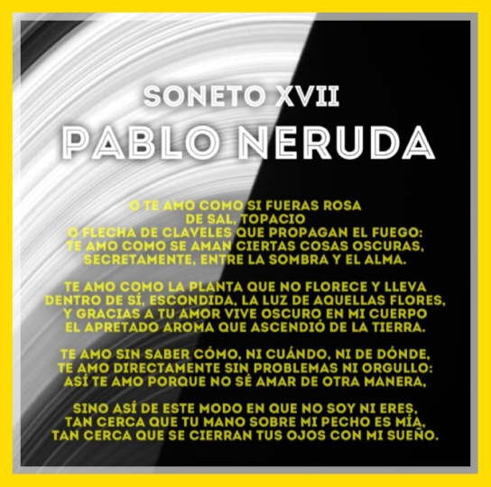 Neruda Love Poem Spanish