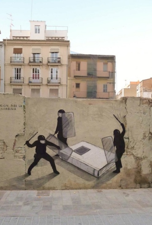 Literary Street Art in Spain