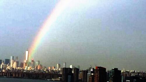 september 11 world trade center rainbow
