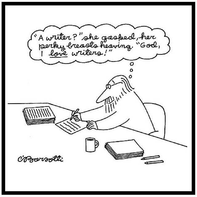 New Yorker Cartoon about Writers by Barsotti