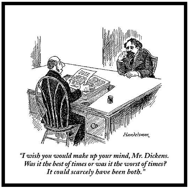 New Yorker Cartoon Charles Dickens Publisher by Handelsman