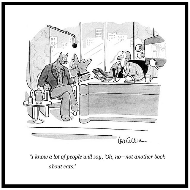 New Yorker Cartoon on Book Promotion Leo Cullum