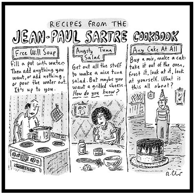 New Yorker Cartoon Sartre Cookbook Chast