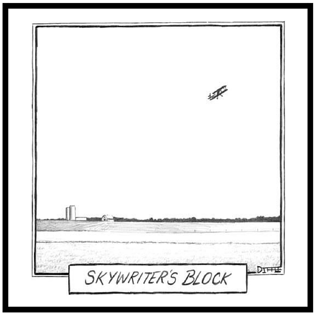 New Yorker Cartoon Sky Writers Block by Matthew Diffee
