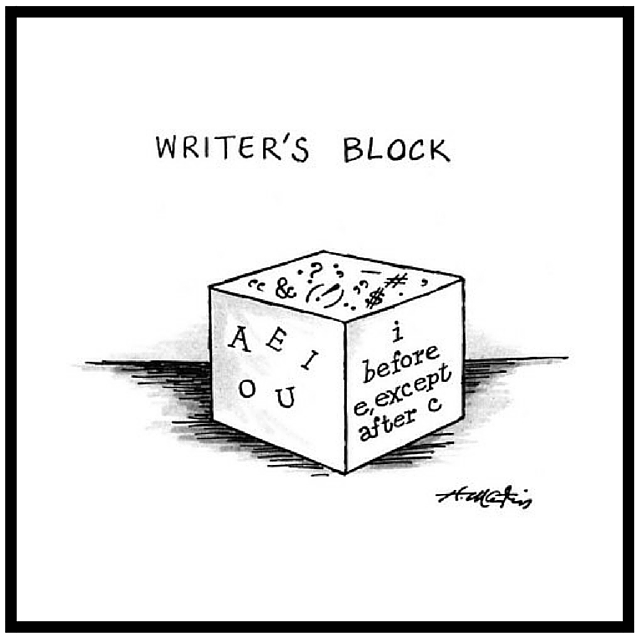 New Yorker Cartoon Writers Block by Henry Martin