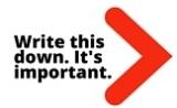Write this down arrow