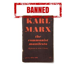 banned communist manifesto